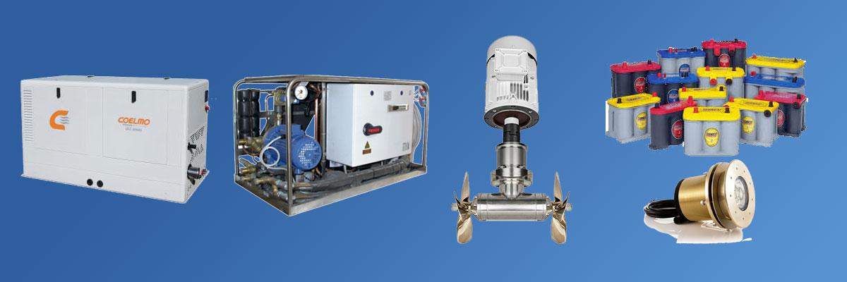 Brodska oprema generatori, akumulatori, thrusteri